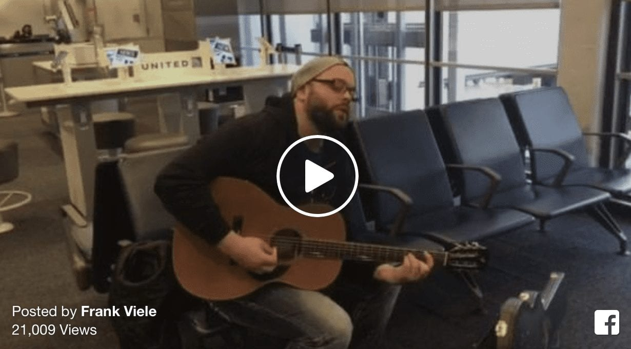 Artist Stuck At Airport Asked By Airline Crew To Play Music During Delay